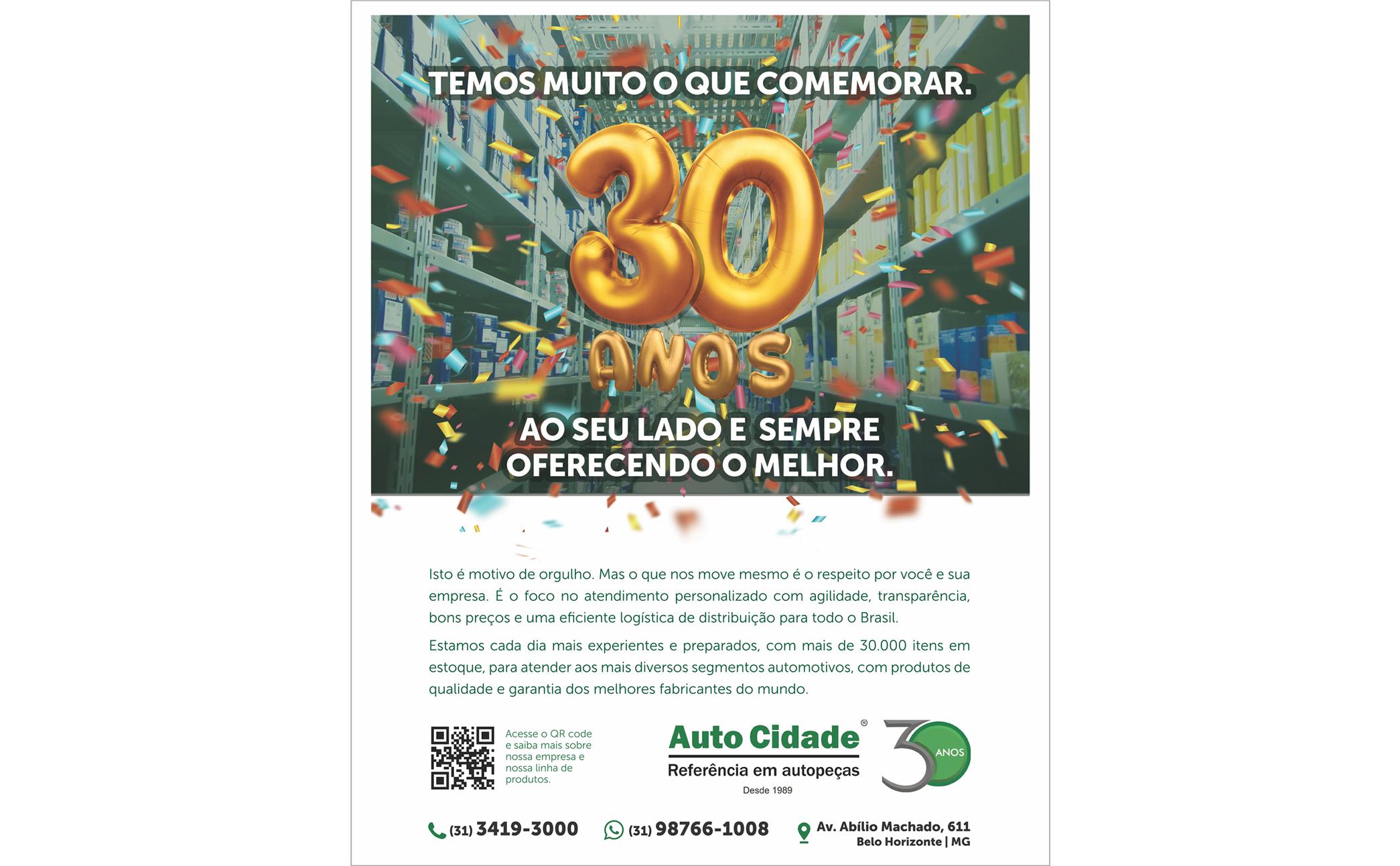 Auto Cidade 30 anos